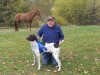 Robert Reynolds and Louie get a ribbon at GSPCO Walking Trial In Rochester Pa