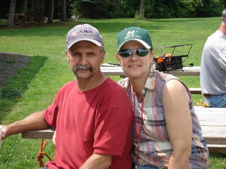 Chris & Anita Howerton modeling hats!